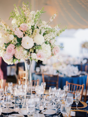 Hydrangea and Stock Centerpiece