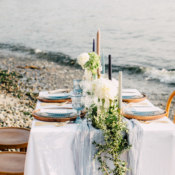 Intimate Beach Party Table for Four