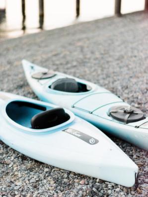 Kayaks at Wedding