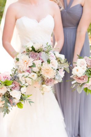 Lavender and Ivory Bouquets