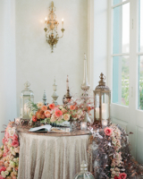 Middle Eastern Lanterns and Flower Runner at Wedding