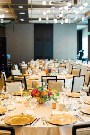 Modern Hotel Wedding Reception