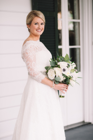 Monique Lhuillier Lace Gown