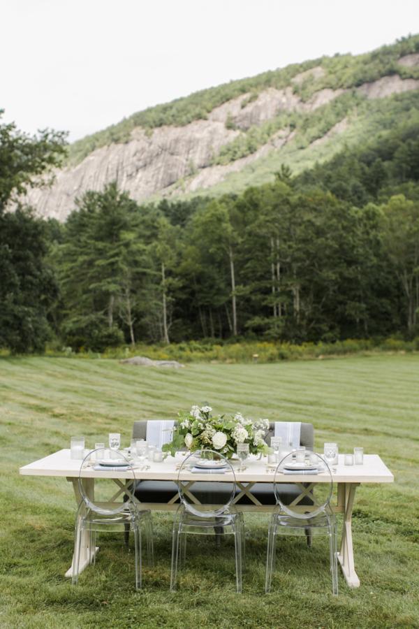 Mountain Wedding Rustic Table
