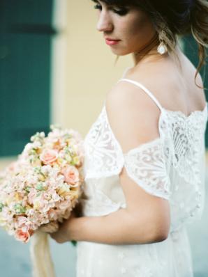 Off Shoulder Casual Wedding Dress