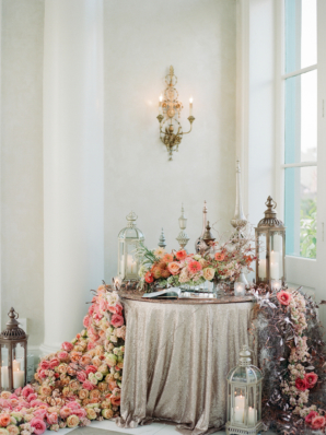 Opulent Lantern and Flower Display at Wedding