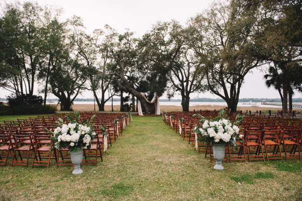 Outdoor Wedding Ceremony with Trees