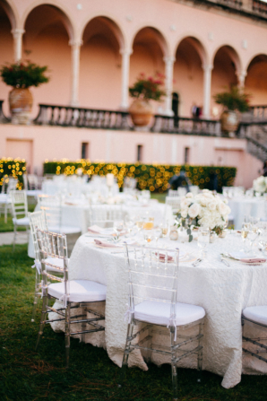 Outdoor Wedding with Ivory and Blush Colors