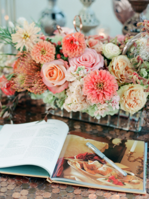 Peach and Pink Fall Wedding Flowers