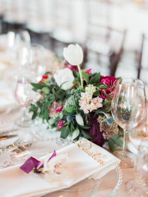 Petite Magenta and Green Centerpiece