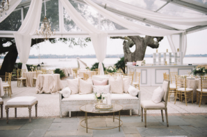 Pink and Gold Wedding Lounge