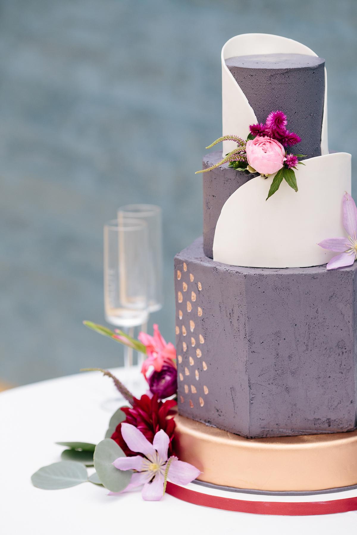 Purple and Gold Wedding Cake - Elizabeth Anne Designs: The Wedding Blog