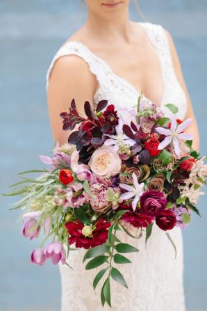 Romantic Purple and Fuchsia Bouquet