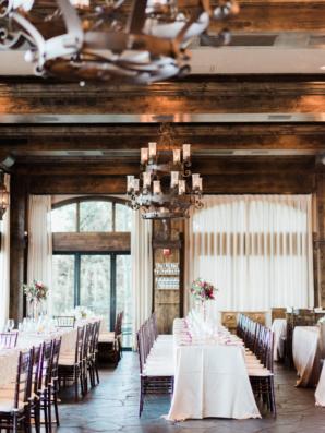 Rustic Indoor Wedding Reception