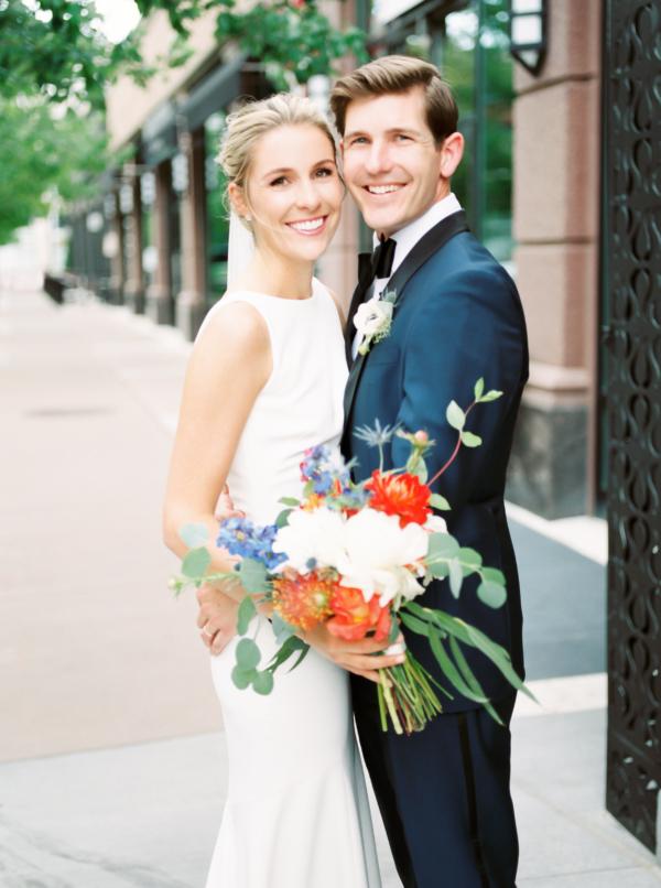 Sleek Contemporary Wedding Attire
