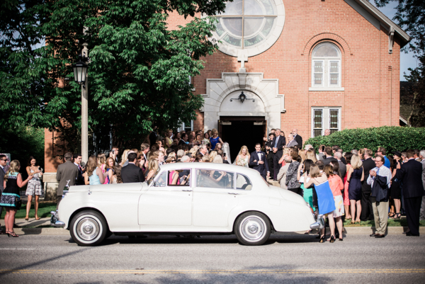 Vintage Car at Wedding Ceremony