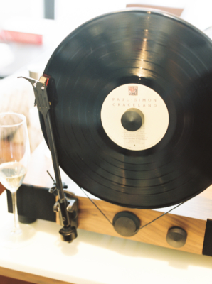 Vintage Record Player at Wedding