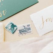 Vintage Stamps for Wedding