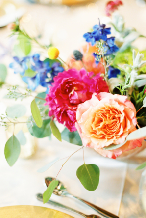 Wedding Centerpiece in Bright Colors