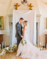 Wedding Ceremony with Calligraphy Backdrop