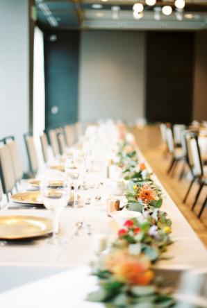Wedding Head Table with Garland