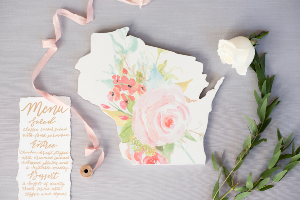Wedding Invitation Shaped like State