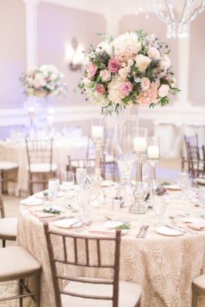 Wedding Reception in Purple and Ivory