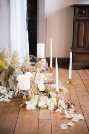 Wheat and Candles at Wedding