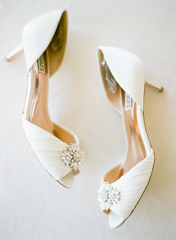 White DOrsay Wedding Shoes