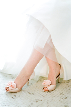 Badgley Mischka Pink Bride Shoes