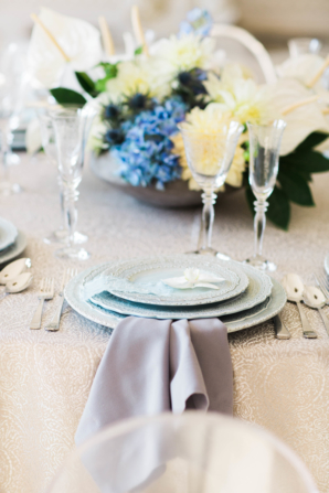 Blue and Ivory Wedding Table 5