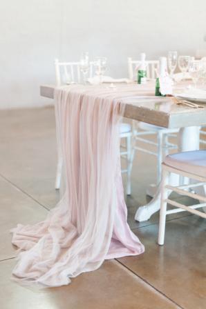 Blush Silk Wedding Table Runner