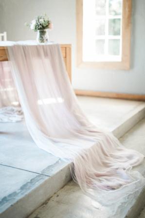Blush Silk Wedding Tablecloth