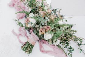 Bouquet with Mauve Ribbon