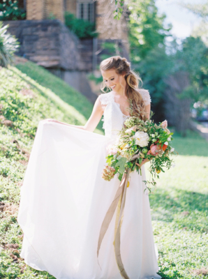 Bride in Truvelle Gown
