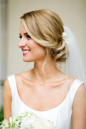 Bride in Veil at Bun