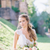 Bride with Sideswept Braid