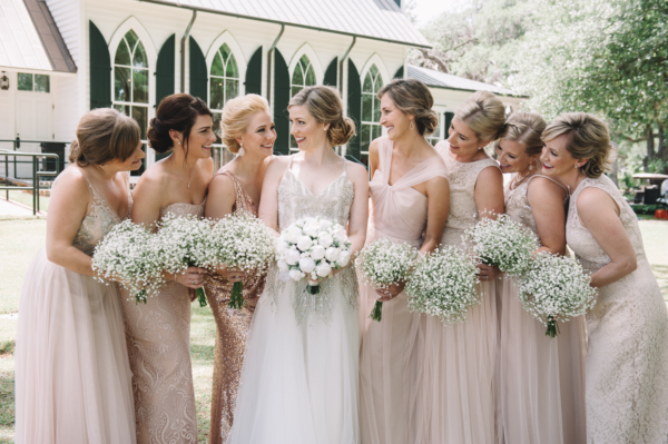 Bridesmaids in Champagne