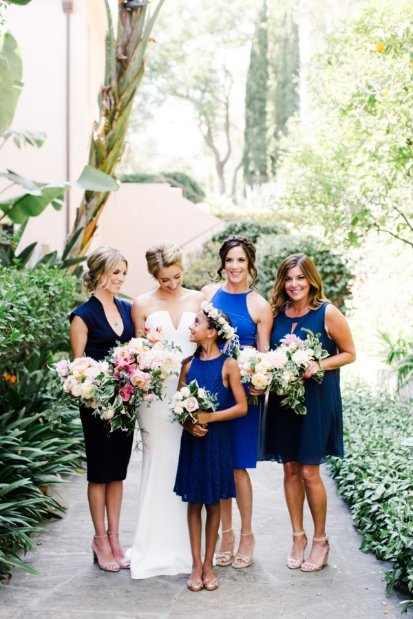 Bridesmaids in Navy and Royal Blue
