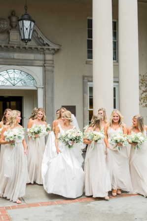 Bridesmaids in Taupe