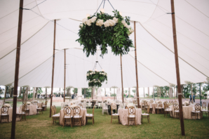 Champagne and Wood Wedding Tent