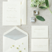 Classic Silver and White Wedding Invitations