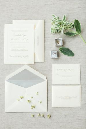 Classic Silver and White Wedding Invitations