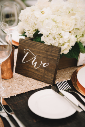 Custom Wood Table Numbers for Wedding