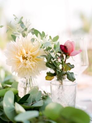 Dahlias in Bud Vases
