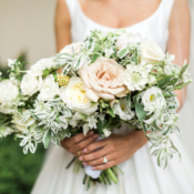 Elegant Asymmetrical Bridal Bouquet