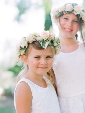 Flower Girls with Floral Wreaths