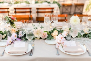 Garland Centerpiece with Dahlias and Orchids
