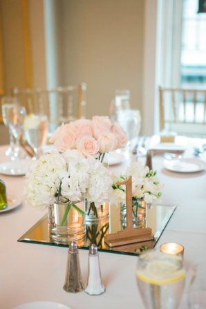 Gold White Pink Simple Centerpiece
