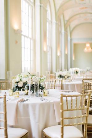 Gold and White Ballroom Wedding